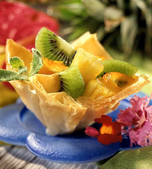 Tropical Fruit Phyllo Cups