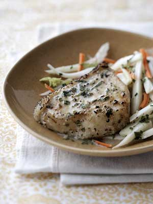 Sea Bass with Fennel Slaw