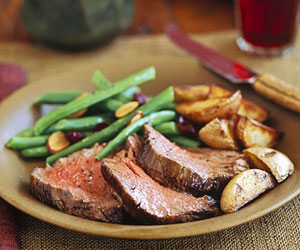 Beef Tenderloin & Easy Wine Sauce