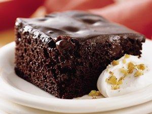 Chocolate Pudding Poke Cake