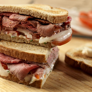 Sweet Onion and Roast Beef Sandwich
