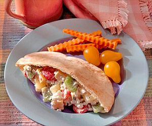 Fruit and Cheese Pitas