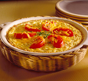 Corn and Tofu Quiche