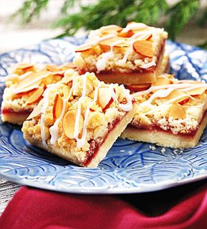 Raspberry-Almond Squares