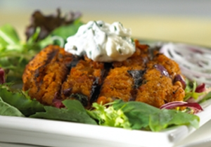 Salmon Burgers with Basil Mayonnaise