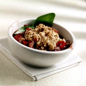 Rhubarb Surprise Crisp