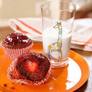 Strawberry Surprise Bran Muffins