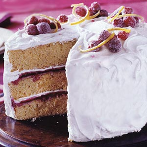 Lemon-Cranberry Cake