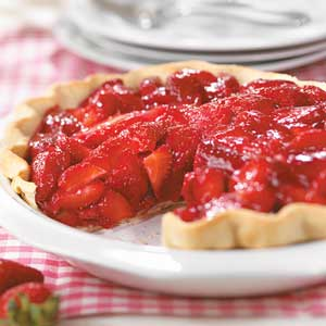 Shimmering Strawberry Pie