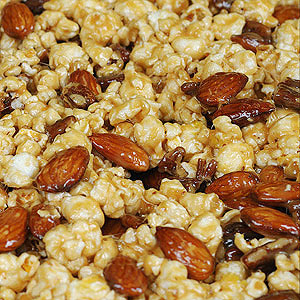 Savory Popcorn and Nut Mix