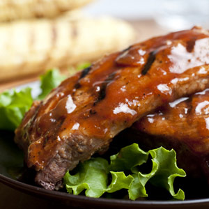 Honey-Barbecued Ribs
