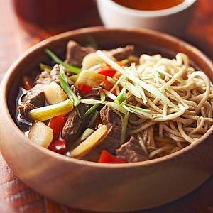 Teriyaki Beef-Noodle Soup