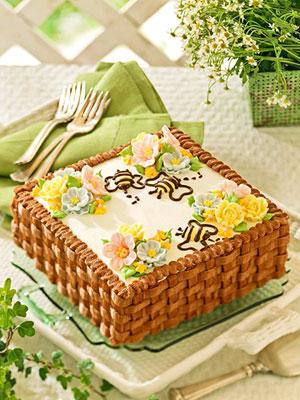 Basketweave Cake