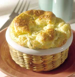 Zucchini and Feta Cheese Souffles