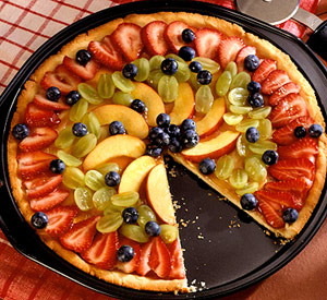 Honey-Fruit Pizza