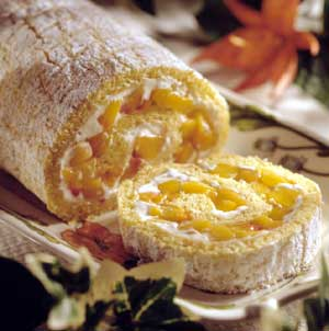Peaches and Cream Roll