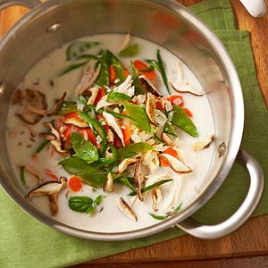 Thai-Style Chicken-Ginger Soup