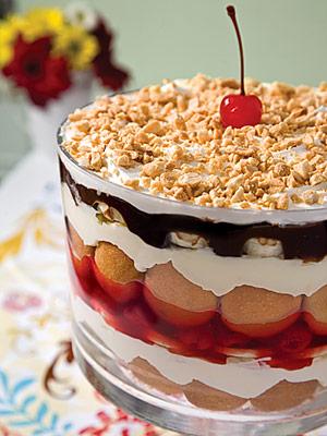 Banana-split Trifle