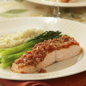 Salsa-Roasted Salmon