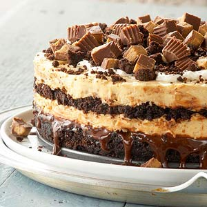 Peanut Butter Buckeye Brownie Cheesecake