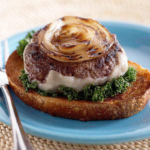 Bull's-eye Onion Burgers