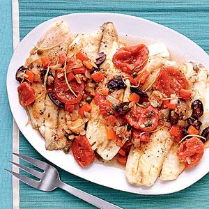 Mediterranean Poached Fish