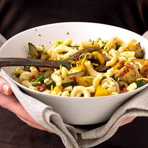 Squash and Pancetta Pasta