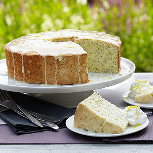 Lemon-Poppy Seed Angel Cake
