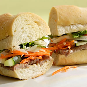 Vietnamese Steak Sandwich