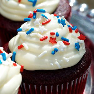 Aunt Jeans Red Velvet Cupcakes with Cream Cheese Frosting