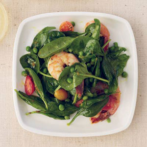Spinach-and-Shrimp Salad with Chile Dressing
