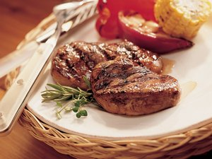 Grilled Balsamic Pork with Mixed-Herbs