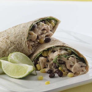 Barbecued Chicken Burritos