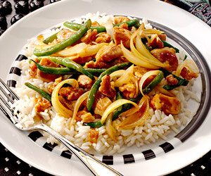 Chicken with Long Beans and Walnuts