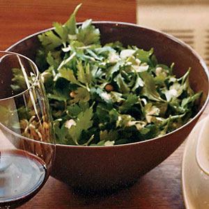 Parsley Salad with Pine Nuts and Lemon-Tahini Dressing