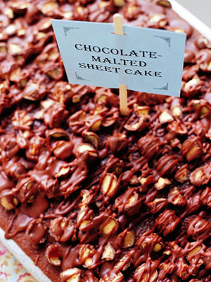 Chocolate-Malted Sheet Cake