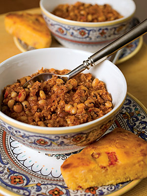 Black-Eyed Pea and Sausage Chili