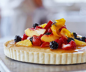 Marzipan Tart with Fruit Tumble