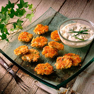 Maryland Crab Cakes with Horseradish Sauce