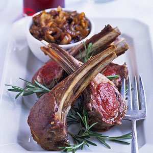 Rack of Lamb Chops with Onion Marmalade