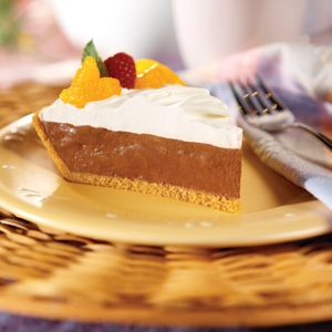 Five Minute Double Layer Chocolate Pie (2 Extra Servings)