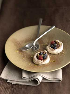 Chocolate-Filled Lemon Meringues
