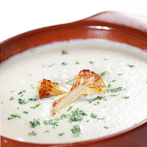 Roasted Cauliflower and Almond Cream Soup