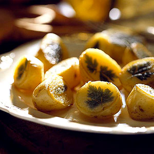 Parsleyed Potatoes with Sage Butter