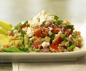 Greek Quinoa and Avocados