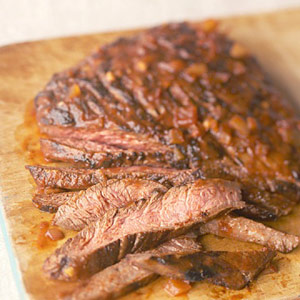 Flank Steak with Chili Sauce