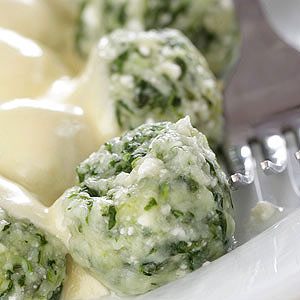 Kale Ricotta Dumplings with Sage Brown Butter