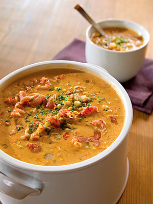 Southwestern Crawfish Corn Chowder