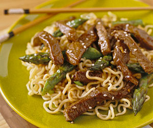 Sesame Beef and Asparagus Stir-Fry