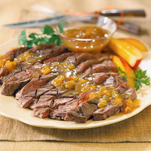 Steak with Chutney Sauce
